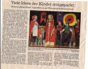 Zeitungsartikel Robin Hood
